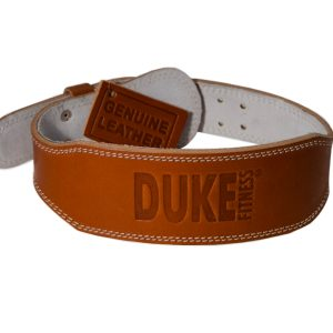 Duke Fitness painonnostovyö on paksua, öljyttyä aitoa nahkaa. Hyvä tuki selälle nostotreeneihin!